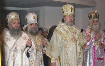Митрополит Валентин (Русанцов) в сослужении иерархов РПАЦ