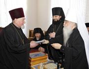 Список лиц,  представленных к награждению по случаю актового дня Минских духовных школ