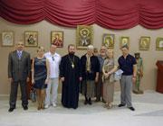 Богословие в нитях : Открытие выставки вышитых икон Галины Курносовой